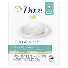 Dove Sensitive Skin Bath Bars 2 Pack