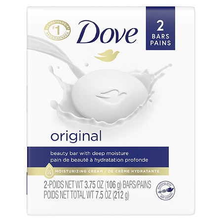 Dove Beauty Bar 2 pk White