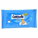 Cottonelle Flushable Moist Wipes, Travel Size Pouch Fresh