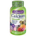 Vitafusion Calcium, 500mg + Vitamin D, Adult Vitamins, Gummies Creamy Swirled Fruits