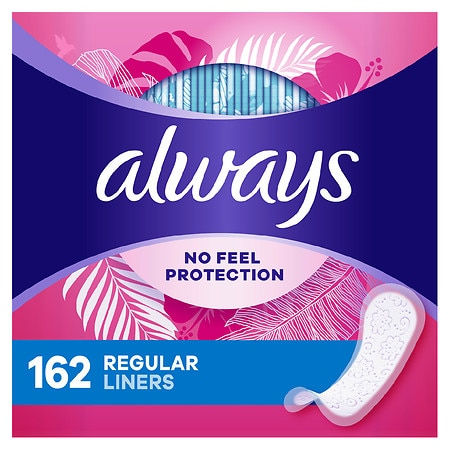 Always Radiant Incredibly Thin Liners, Jumbo Pack Unscented,Regular