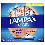 Tampax Pearl Pearl Tampons with Plastic Applicators UnscentedUnscented,Super Plus, 36
