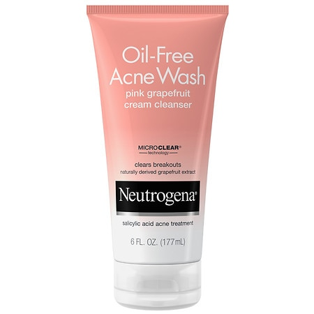 Neutrogena Oil-Free Acne Wash Cream Cleanser Pink Grapefruit