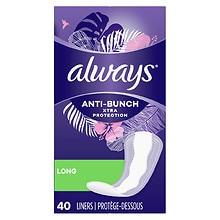 Always Dri-Liners Long Pantiliners Unscented