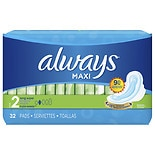 Always Maxi Pads with Wings Unscented,Long Super