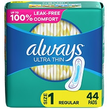 Always Ultra Thin Pads without Wings Unscented,Regular