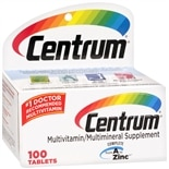 Centrum Multivitamin/Multimineral Supplement Tablets