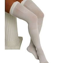 ITA-MED Graduated Compression Thigh Highs Anti-Embolism Compression 18 mmHg Large White