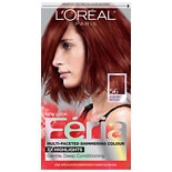 L'Oreal Paris Feria Multi-Faceted Shimmering Colour 3x Highlights, Permanent Brilliant Bordeaux 56