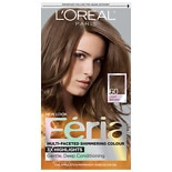 L'Oreal Paris Feria Multi-Faceted Shimmering Colour 3x Highlights, Permanent Crystal Brown 60