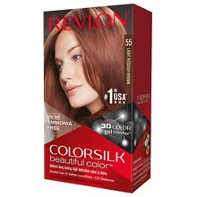 Beautiful Color Permanent Hair Color, Light Reddish Brown 55