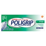 Super PoliGrip Free Denture Adhesive Cream Travel Size