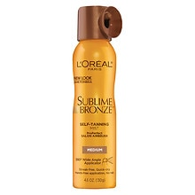 L'Oreal Paris Sublime Bronze ProPerfect Salon Airbrush Self-Tanning Mist Medium Natural Tan