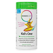 Rainbow Light Kids One MultiStars Multivitamin/Mineral Chewable Tablets