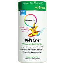 Rainbow Light Kids One MultiStars Chewable Multivitamin/Mineral Fruit Punch