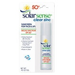Solar Sense Clear Zinc Sunscreen Stick Green Tea & Aloe