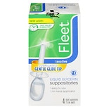 Fleet Liquid Glycerin Laxative Suppositories 4 Pack