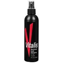 Vitalis Maximum Hold Hairspray for Men Unscented
