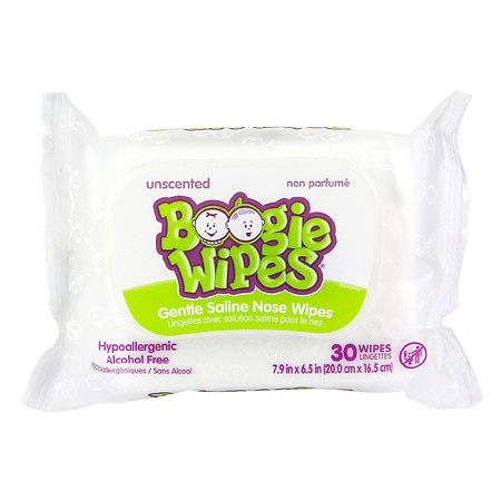 Boogie Wipes Gentle for Stuffy Noses Simply Unscented