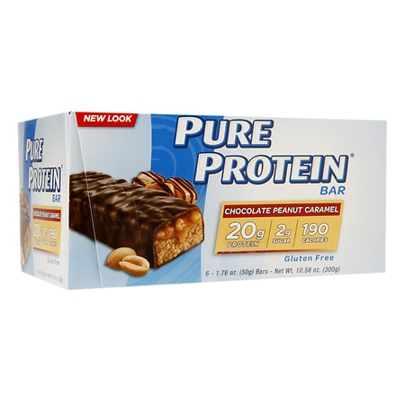 Pure Protein Bars Chocolate Peanut Caramel,6 pk