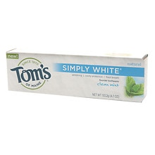Tom's of Maine Simply White Fluoride Toothpaste Clean Mint Clean Mint