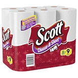 Scott Paper Towels, Choose-a-Size, Mega Roll White