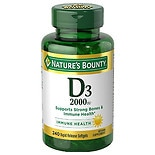 Nature's Bounty Super Strength D-2000 IU Supplement Softgels 2 Pack