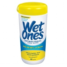 Wet Ones Antibacterial Hands Wipes Citrus
