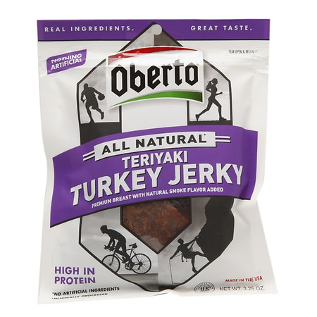 Oberto All Natural Turkey Jerky, Teriyaki