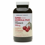 American Health Chewable Super Acerola Plus, Natural Vitamin C 500mg