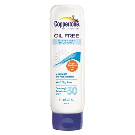 Coppertone Oil Free Sunscreen Lotion, SPF 30