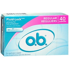 o.b. Non-Applicator Tampons, Value Pack Regular