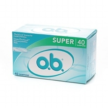 o.b. Non-Applicator Tampons, Value Pack Super