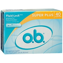o.b. Non-Applicator Tampons, Value Pack Super, Plus