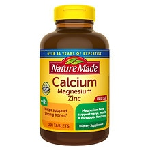 Calcium Magnesium Zinc Dietary Supplement Tablets