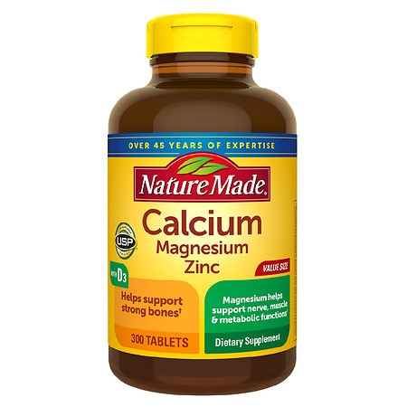 Nature Made Calcium, Magnesium &  Zinc, Tablets