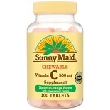Sunny Maid Vitamin C 500 mg Chewable Tablets Orange, 500 mg, Chewable Tablets