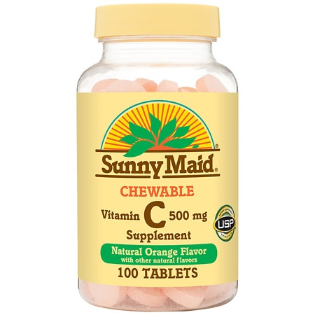 Sunny Maid Vitamin C 500 mg Chewable Tablets