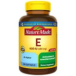 Nature Made dl-Alpha Vitamin E 400 IU Softgels
