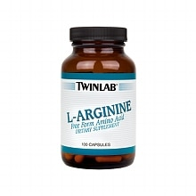 Twinlab L-Arginine Dietary Supplement Capsules