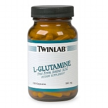 Twinlab L-Glutamine Dietary Supplement Capsules
