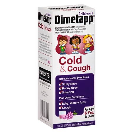 Children's Dimetapp Cold & Cough, For Ages 6 Yrs. & Over Grape