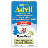Children's Advil White Grape Infants' Ibuprofen 50 mg Fever Reducer/Pain Reliever Concentrated Dr White Grape