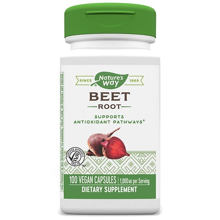 Nature's Way Beet Root 500mg, Capsules