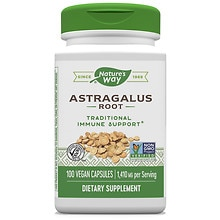 Nature's Way Astragalus Root 470 mg Dietary Supplement Capsules