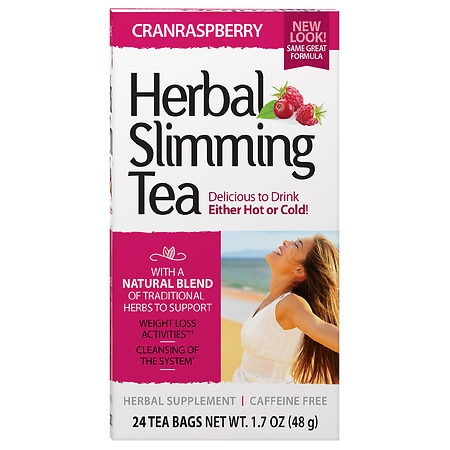 21st Century Herbal Slimming Tea Cranraspberry, 24 pk