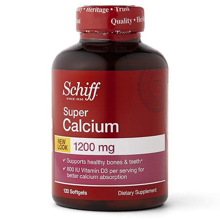 Schiff Super Calcium 1200 with Vitamin D, Softgels