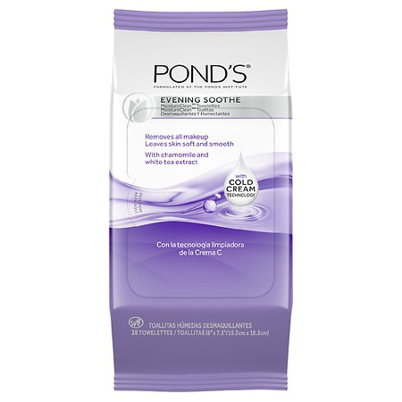 POND'S Wet Cleansing Towelettes Evening Soothe with Chamomile & White Tea