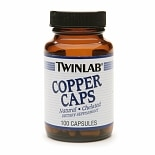 Twinlab Copper Caps Dietary Supplement Capsules
