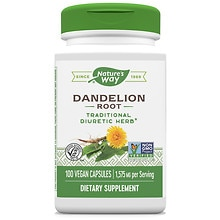 Nature's Way Premium Herbal Dandelion Root 540 mg Dietary Supplement Capsules